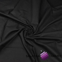Thick black plain cotton - Noris