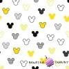 MIKI wzorzyste czarno żółte na białym