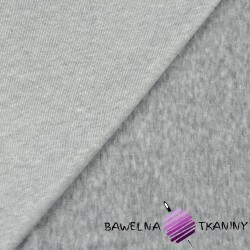 Welur bawełniany odzieżowy - szary melanż
