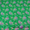 Cotton krakow folk pattern on green background