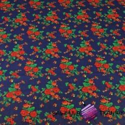 wzór krakowski na granatowym tle