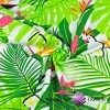 papugi białe na zielonych liściach