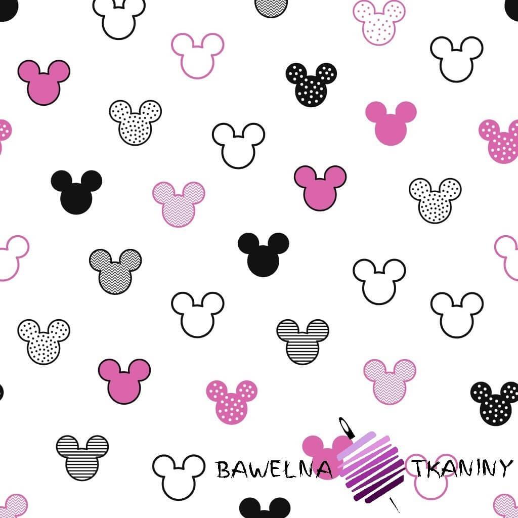 MIKI patterned black pink on white background