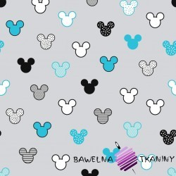 MIKI patterned black turquoise on gray background