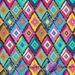 Dzianina Jersey druk cyfrowy -mozaika kolorowa