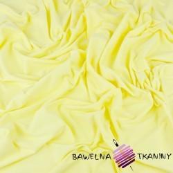 Dzianina Jersey jednokolorowa jasny żółty