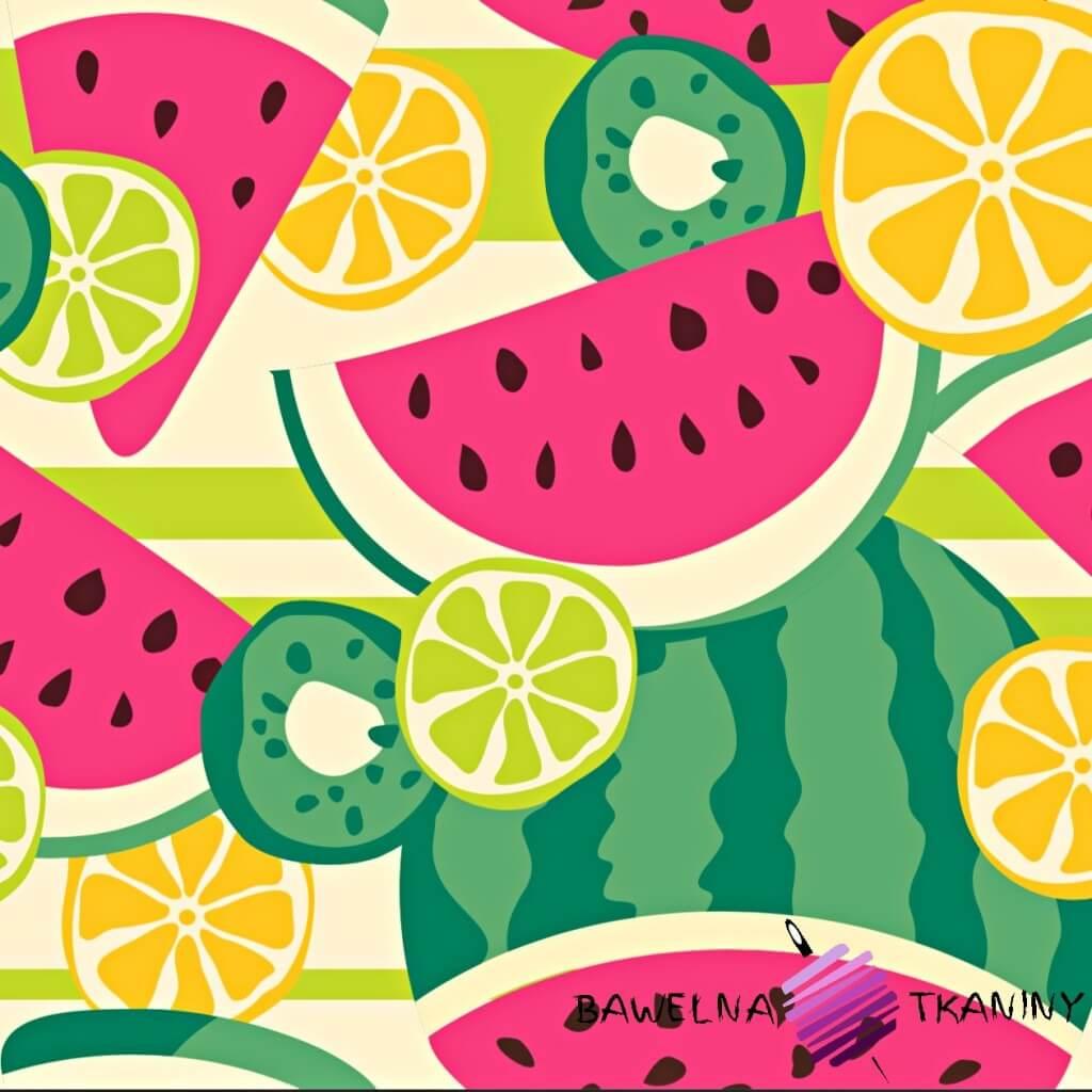 wodoodporna tkanina arbuzy i limonki