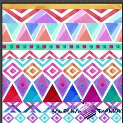 Cotton Jersey knit digital printing pastel ethnographic pattern