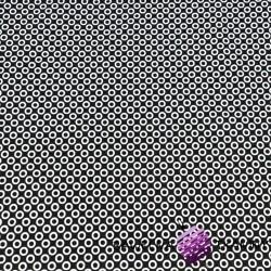 Kółka MINI białe na czarnym tle