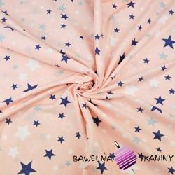 gwiazdozbiór biało granatowy na morelowo-różowym tle