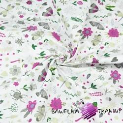 owady na łące fioletowe na białym tle