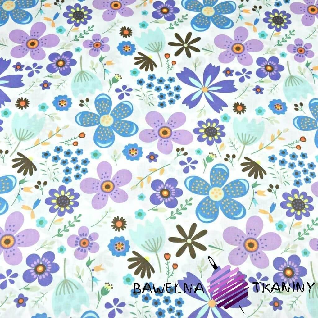 łączka duża niebiesko fioletowa na białym tle