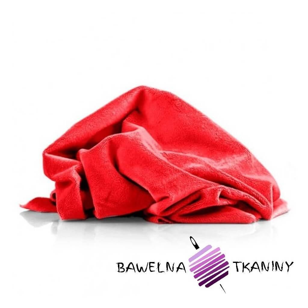 Minky gładki Premium czerwony (Tomato)