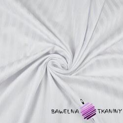 Satyna bawełniana biała pasy 9mm