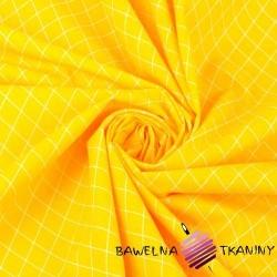 romby białe na ciemno żółtym tle