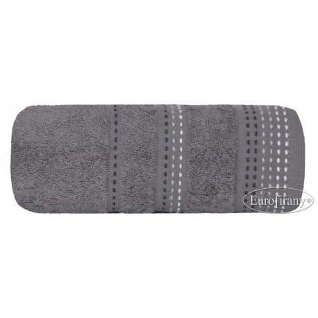 Elegancki ręcznik w kolorze popielatym