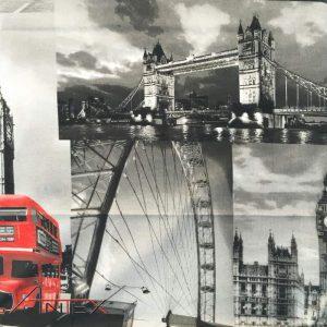 Bawełna Londyn szary