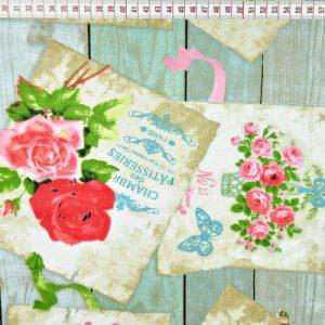bawełna deska z kwiaty