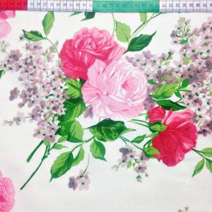 bawełna róże