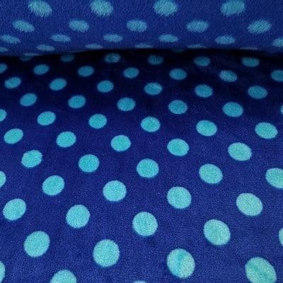 Polar plus grochy błękitne na niebieskim tle