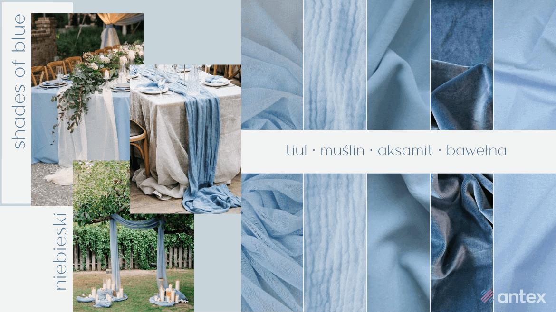 Wesele 2021. Trendy ślubne: kolory weselne, tkaniny ślubne.